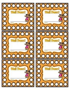 Well Done Punch Cards