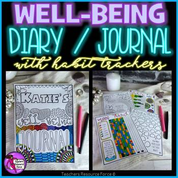 Wellbeing Diary / Journal with Habit Tracker