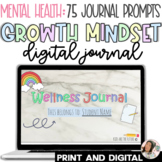 Wellbeing Growth Mindset Journal | Digital & Print | 50 EDITABLE SEL Prompts