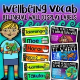 Wellbeing Vocabulary Wall Labels (Bilingual Māori and English)
