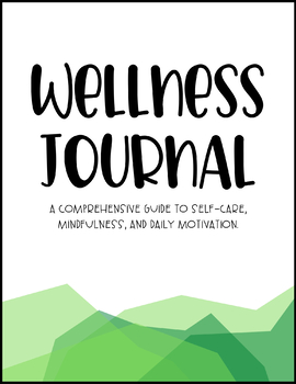 Wellness Journal - Green