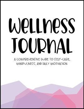 Wellness Journal - Pink/Purple