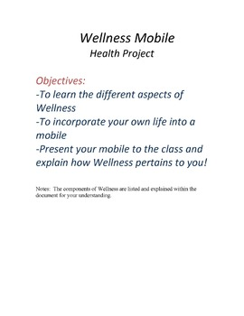Wellness Mobile Health Project