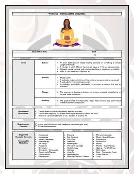 Assignment - Wellness - Homeopathic Modalities