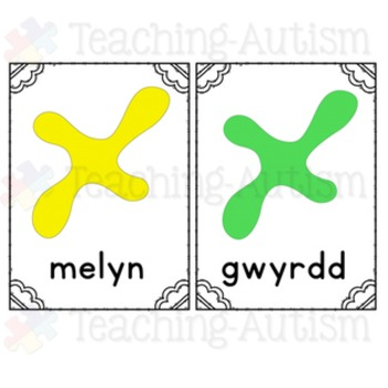 Welsh Colours, Flashcards