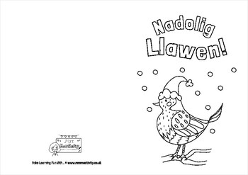 Welsh/Cymraeg Christmas Card Template