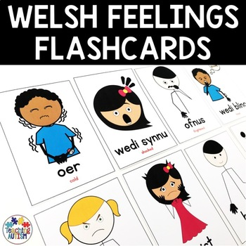 Welsh Feelings, Emotions, Flashcards