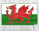 Welsh Flag SVG, Instant Download, Vector Art, Commercial Use SVG, Silhouette SVG
