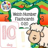 Free Welsh Number Flashcards