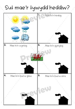 Welsh Second Language Sut Mae'r Tywydd? How's the weather? Worksheet.