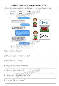 Welsh Text Message Comprehension - Year 2/3