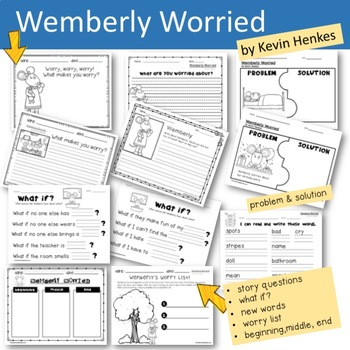 Wemberly Worried   Book Companion   Reader Response Pages