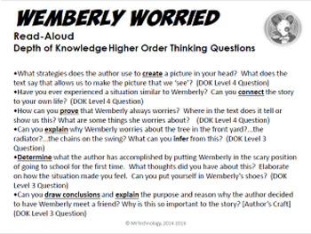 Wemberly Worried Reading Lessons & Activities Bundle (Common Core Aligned)