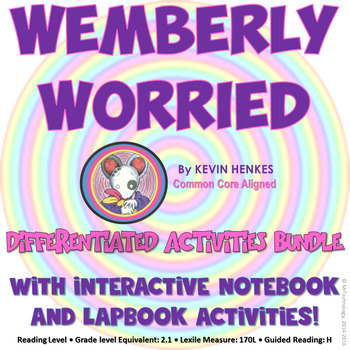 Wemberly Worried Reading Lessons & Activities Bundle (Comm