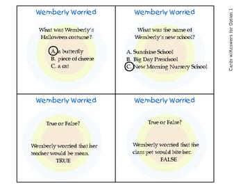 Wemberly Worried Literacy Center Activities