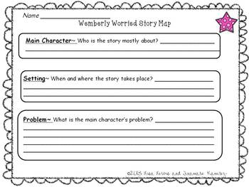 Wemberly Worried~a One Week Reading Unit for the story by Kevin Henkes