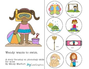 Wendy Goes Swimming-A short story focusing on w/sw phonology skills