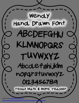 Wendy Hand Drawn Font