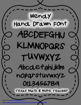 Wendy Hand Drawn Font