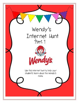 Wendy's Internet Hunt- PART ONE- For Special Education