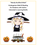 K - 2  Wendy the Blind Witch - Halloween - Autism - Reading - Math
