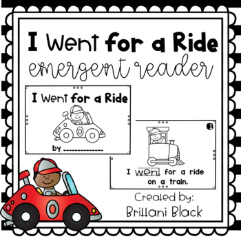 I Went for a Ride- emergent reader