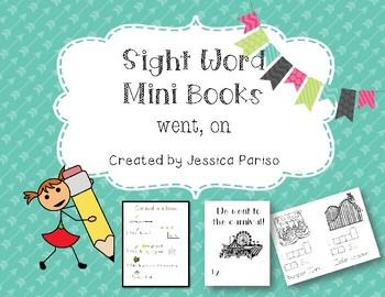 Went, on Sight Word Mini Book