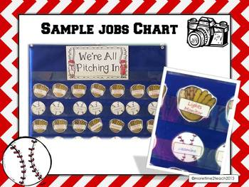 We're All Pitching In {Baseball Themed EDITABLE Jobs Chart}