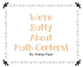 We're Batty About Math Centers! {Bat themed math centers!}