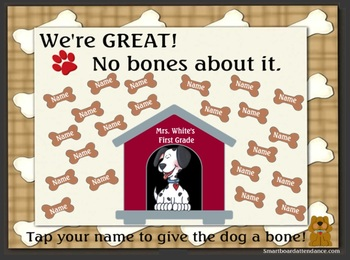 We're GREAT! No Bones About It, Animated Smartboard Attendance
