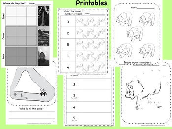 We're Going on a Bear Hunt  Activity Pack:  sequence, flannel pieces, LA & math