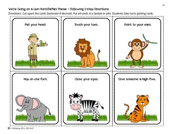 We're Going on a Lion Hunt! Language Companion Packet