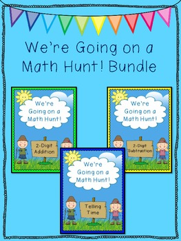 We're Going on a Math Hunt Bundle #1 - Addition, Subtraction, Time