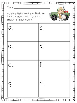 We're Going on a Math Hunt - Counting Money