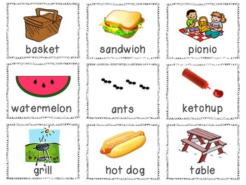 We're Going on a Picnic - Math & Literacy Activities