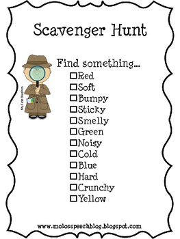 We're Going on a Scavenger Hunt
