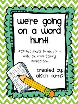 We're Going on a Word Hunt!