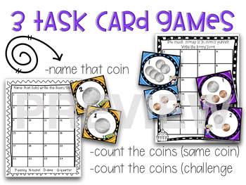 Coins 11 Money Math Activities and Games
