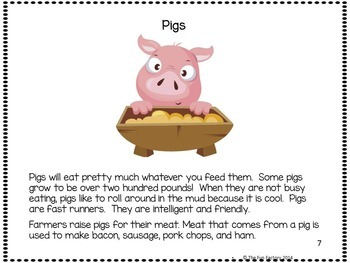 Farm K-1 Informational Text