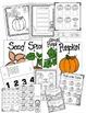Pumpkin Fun!  (A Fall Themed Kindergarten Pumpkin One Full