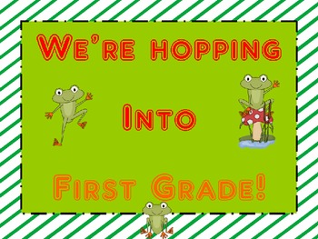 We're Hopping Into...Frog Themed
