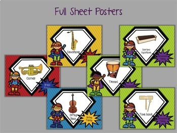 We're Musicians, What's Your Super Power?  Instrument Posters and Visuals