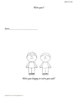 """Were, Or, You"" Sight Word Book"