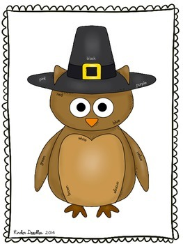 We're Owlfully Thankful Literacy Activities