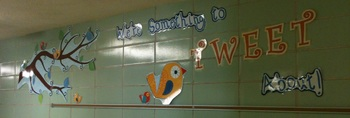 We're Something to TWEET About! - Classroom Decor Sentence