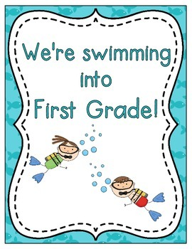 We're Swimming into School! Grade Level Signs and Student Name Cards