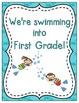 We're Swimming into School! Grade Level Signs and Student