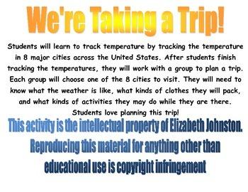 We're Taking a Trip (weather tracking)