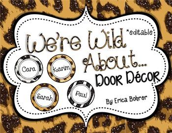Door Decor: Animal Print