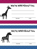 We're Wild About You Awards - Poetry too